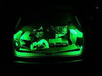 Подсветка багажника —зеленая!