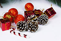 Новогодний набор (шарик+короб+свеча)