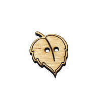 Пуговица деревянная декоративная Листик