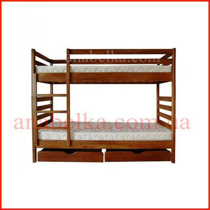 Кровать двухярусная  деревяная   Трансформер -1  (Тис), фото 2