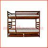 Кровать двухярусная  деревяная   Трансформер -1  (Тис)