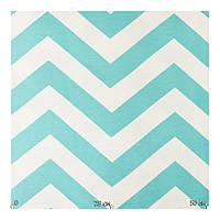 Красивая ткань для штор голубой зигзаг