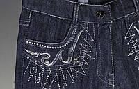"""Штаны джинсовые девочка подростковые """"Вышивка на кармане"""""""