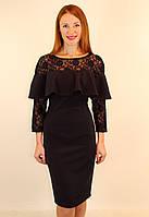 Нарядное вечернее платье с рюшами 46-48-50 р ( синий, черный )