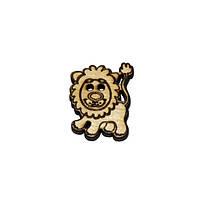 Пуговица деревянная декоративная Львенок