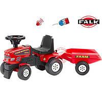Трактор каталка с прицепом FALK FARM MUSTANG 350S красный