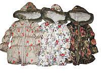 Куртка удлиненная зимняя для девочек, размер-5,6,6,7,7,8 лет, арт. 3224