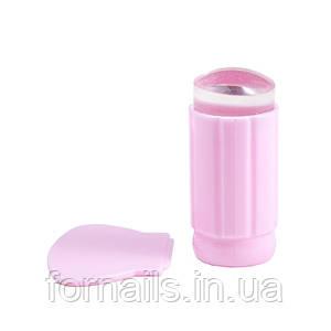 Силиконовый штамп+скрапер, розовый