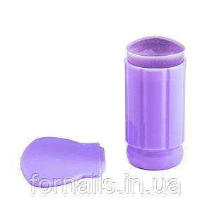 Силиконовый штамп+скрапер, фиолетовый