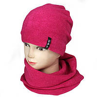 Комплект шапка с флисом и хомут  Ангора Shila, фото 1
