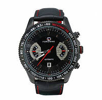 Классические черные механические часы Forsining Italian