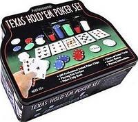 Набор для игры покер в оловянном кейсе 200 фишек Duke TC04201C