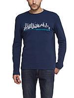 Синего цвета реглан LC Waikiki с надписью Greeeting from Istanbul 34, фото 1
