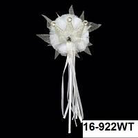 Прокат. Волшебная палочка на прокат Юная Принцесса белая с серебристой коронкой