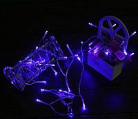 Светодиодная гирлянда 5 метров на батарейках синий, фото 1