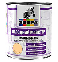 Эмаль ПФ-115 ТМ «Зебра Народный Мастер» 2,8 кг / Сухая глина №514