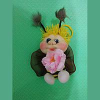 """Мягкая игрушка """" Пчелка Майя"""", ручной работы 14 см"""