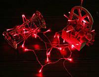 Новогодняя гирлянда 3 метров на батарейках красная