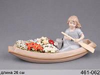 Статуэтка Девушка с цветами 26 см фарфор