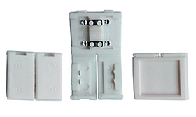 Коннектор BIOM 8мм пластик 2 зажима 2pin