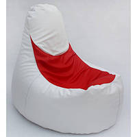 Пуф  Sako 85х80 белый с  красным