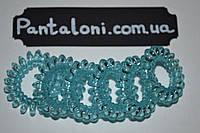 Резиночка 4 см, самая низкая цена, прозрачная голубая