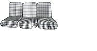 Комплект подушек с поролоном для садовой качели