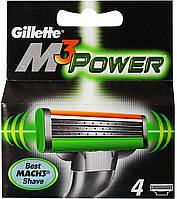 Gillette Mach3 Power сменные картриджи (четыре картриджа в упаковке)