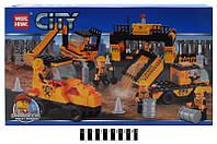 """Констр. """"CITY"""" Строительная  техника""""  343 дет. 82007 р.58х34х8 см."""