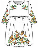 Сукня дитяча з рукавами для вишивки бісером, нитками