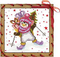 Набор-открытка для вышивания на основе Perfostitch Спешу поздравить ОР 7544