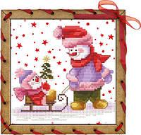 Набор-открытка для вышивания на основе Perfostitch Первая елочкаОР 7545
