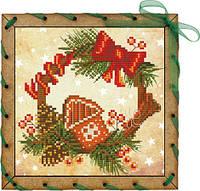 Набор-открытка для вышивания на основе Perfostitch Пряничный домикОР 7546
