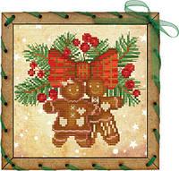 Набор-открытка для вышивания на основе Perfostitch Имбирная парочкаОР 7548