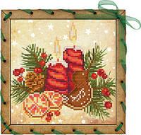 Набор-открытка для вышивания на основе Perfostitch Аромат рождестваОР 7549