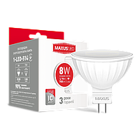 LED лампа MAXUS MR16 8W 4100K 220V GU5.3 (1-LED-514)