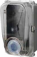 Шкаф пластиковый e.mbox.stand.plastic.n.f1.прозр. под однофазный счетчик, навесной, с комплектом метизов