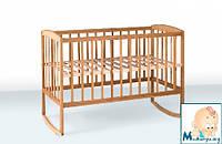 Гойдалка кроватка детская из бука на дугах