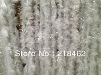 Марабу  белое с люрексом (дождиком) 2 метра