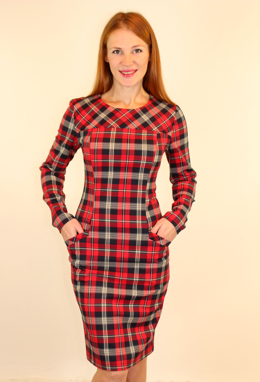 Теплое платье футляр 44-50 р