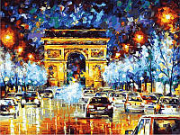 Картина по номерам 40×50 см. Вечерний Париж Художник Леонид Афремов, фото 1