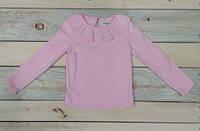 Гольф с воротничком на девочку розовый 95 см