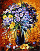 Картина по номерам 40×50 см. Цветочный фейерверк Художник Леонид Афремов
