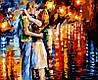 Картина по номерам 40×50 см. Прощальный поцелуй Художник Леонид Афремов