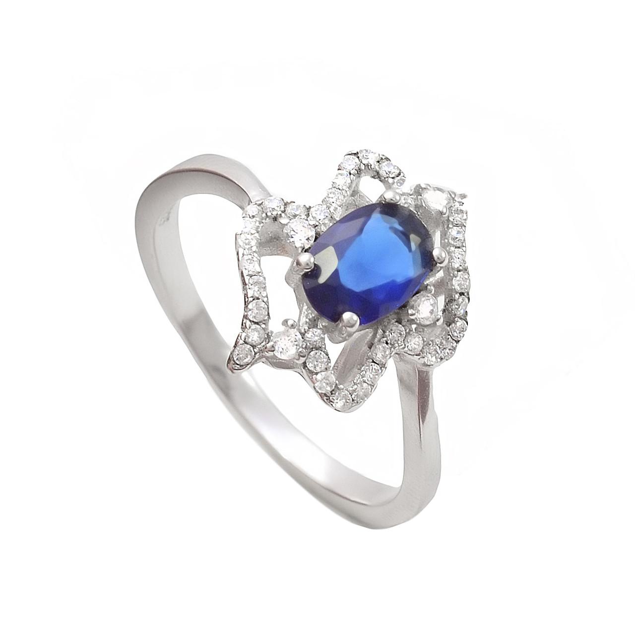 Серебряное кольцо с цирконом - Магия Золота  в Кривом Роге