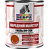 Эмаль ПФ-266, коричневая, ТМ «Зебра НМ» / код цвета №586 / по 2,8 кг