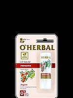 """Витаминный бальзам для губ с маслом арганы от ТМ """" O'HERBAL """", 4,8г."""