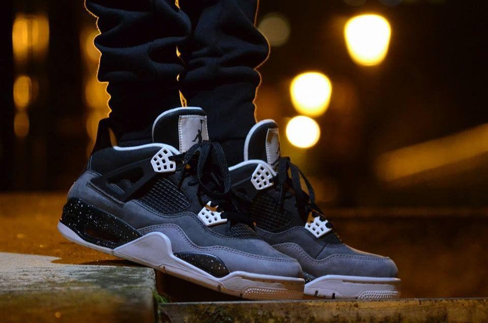 Мужские кроссовки Nike Air Jordan IV Retro Black-Grey