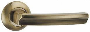 Ручка дверная на раздельном основании Punto - Alfa TL ABG-6 (бронза зеленая)