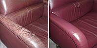 Перетяжка и ремонт кожаной мебели